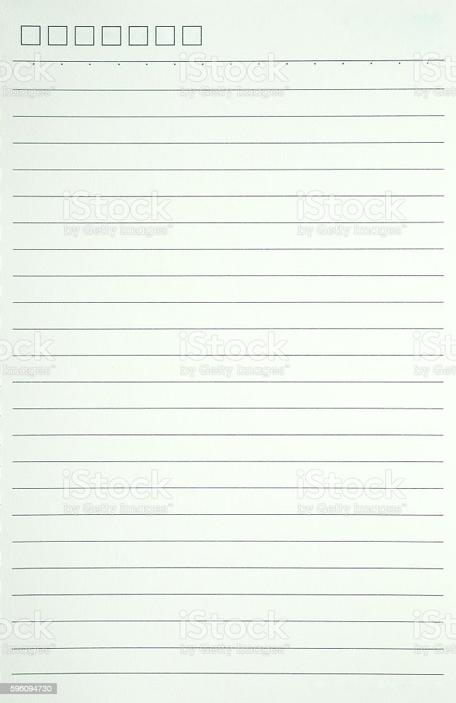 white notebook paper  for background. Lizenzfreies stock-foto