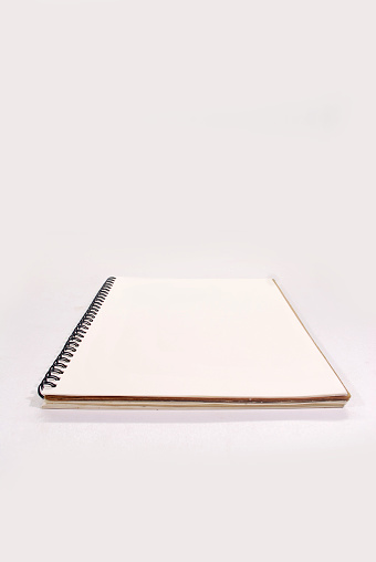 White Notebook Stock Photo - Download Image Now