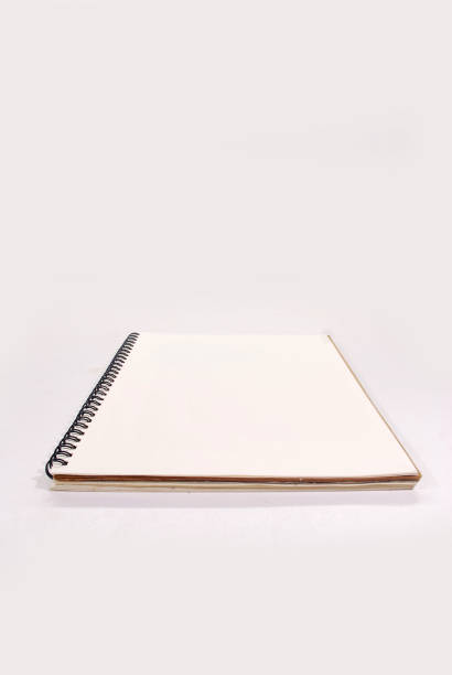 White notebook. Notebook isolated on white background. apprise stock pictures, royalty-free photos & images