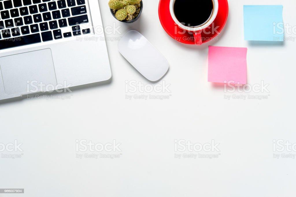 Witte Bureau met copyspace - Royalty-free Bedrijfsleven Stockfoto