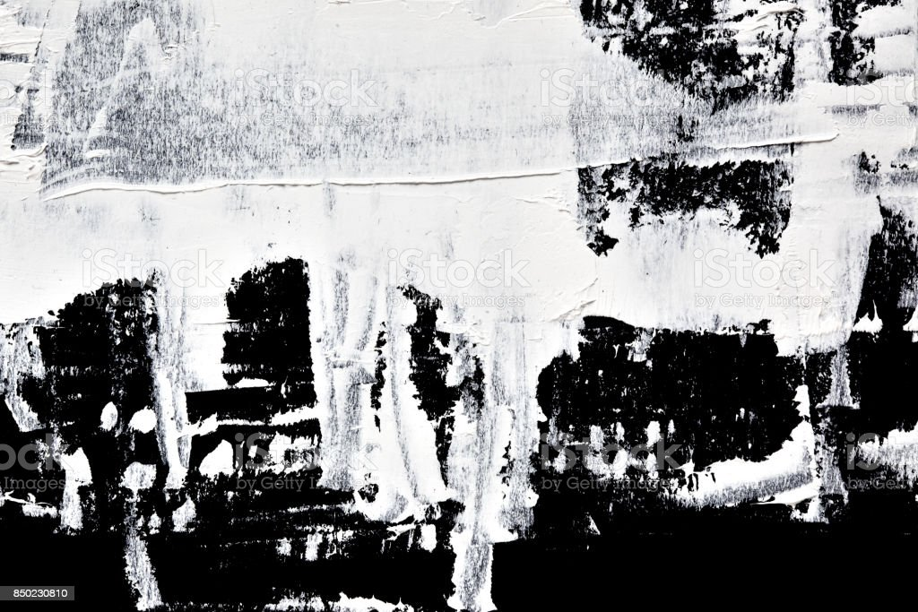White oil paint - abstract composition stock photo