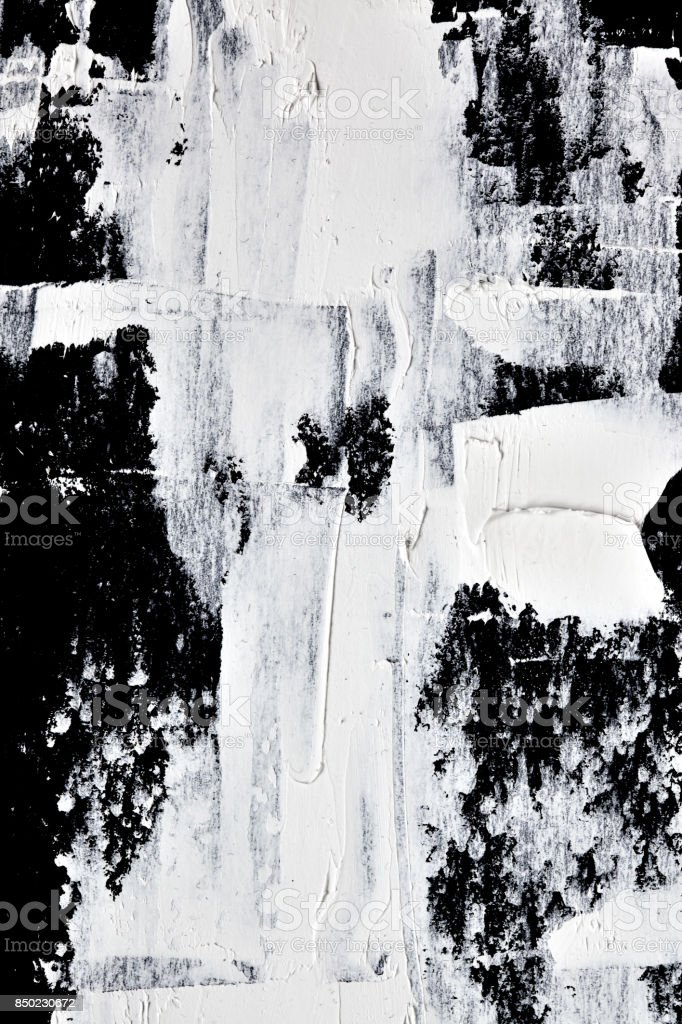 White oil paint  - abstract texture stock photo