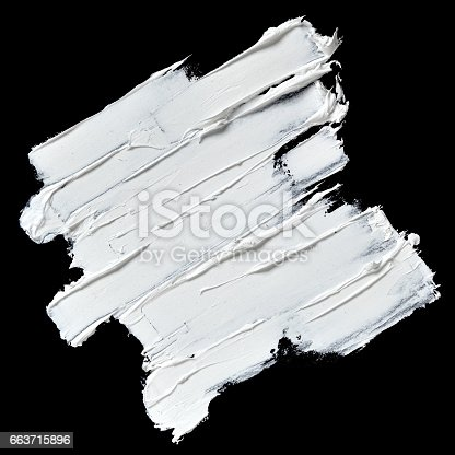 534130204istockphoto White oil paint brush strokes 663715896