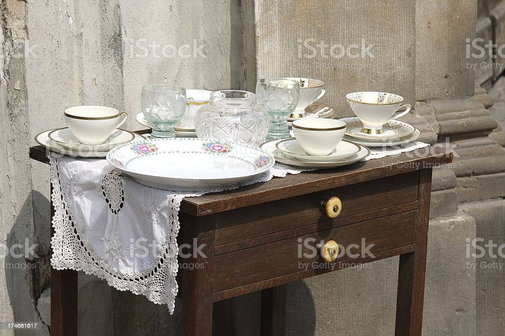 White old coffee cups royalty-free stock photo