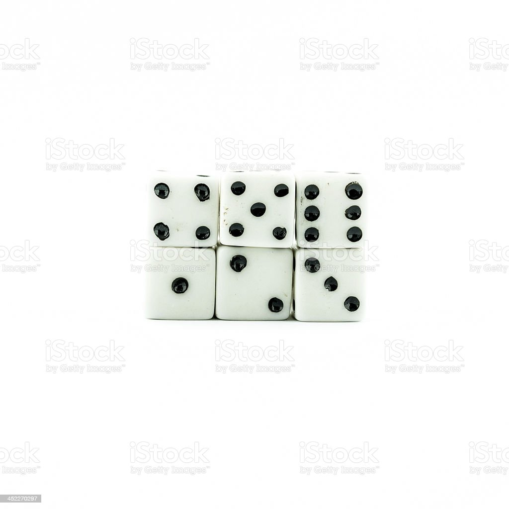 white old dices royalty-free stock photo
