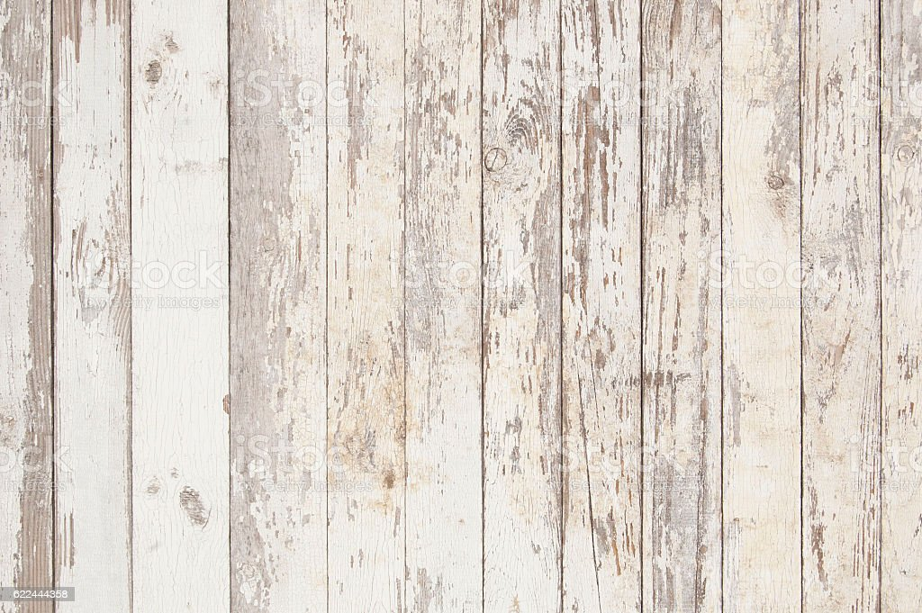 white old wooden fence. wood palisade background. planks texture stock photo
