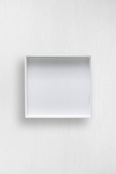 white open box on white table - puste pudełko zdjęcia i obrazy z banku zdjęć
