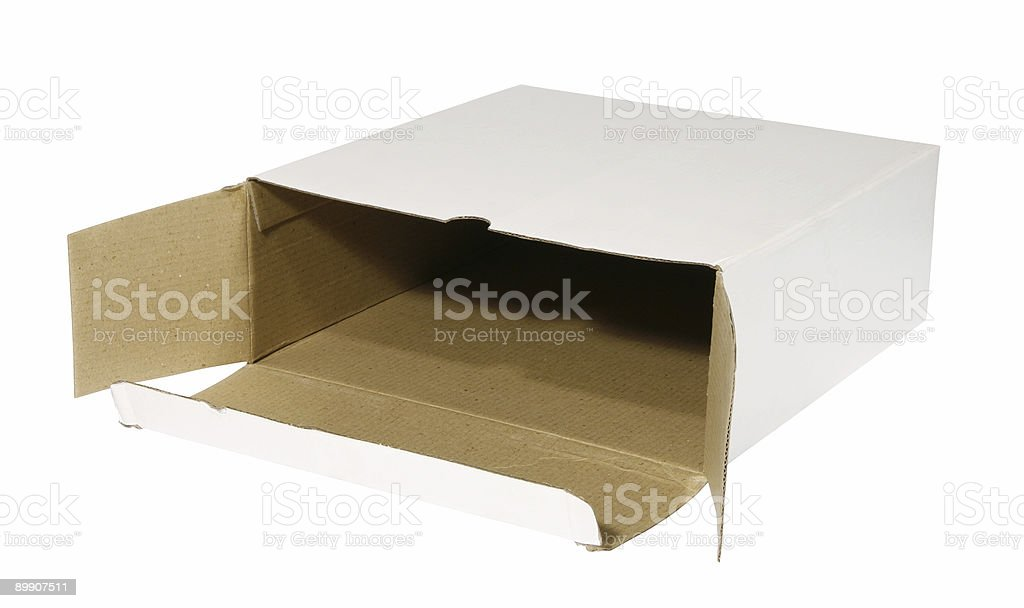 White open box royalty-free stock photo