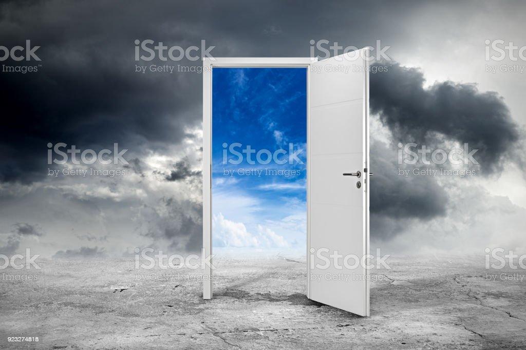 concepto de puerta blanca - foto de stock