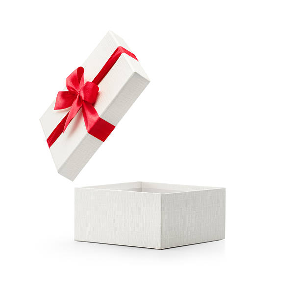 Royalty free open gift box pictures images and stock photos istock white open gift box with red bow stock photo negle Gallery