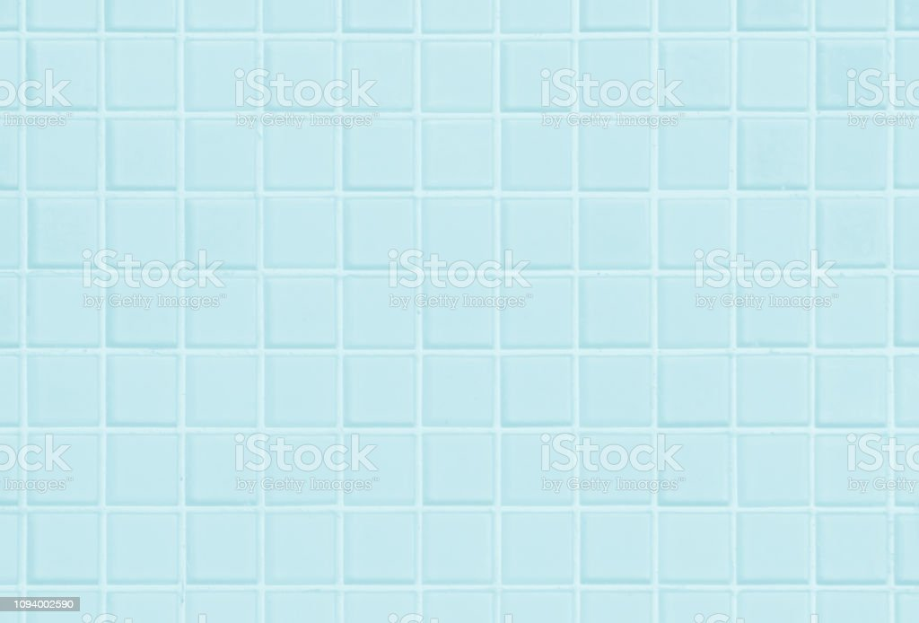 White Or Blue Ceramic Wall And Floor Tiles Abstract Background Design Geometric Mosaic Texture For The Decoration Of The Bedroom Simple Seamless Pattern For Backdrop Advertising Banner Poster Or Web Stock Photo