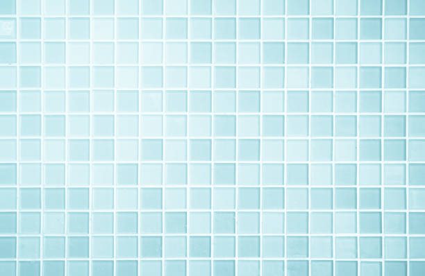 白または青セラミック壁および床のタイルは、背景を抽象化します。 - タイル ストックフォトと画像