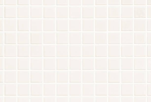白またはクリームの壁および床のセラミック タイルは、背景を抽象化します。寝室の装飾のための幾何学的なモザイクのテクスチャをデザインします。簡単なシームレス パターン背景広告� - タイル ストックフォトと画像
