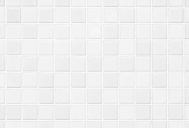 白または灰色の壁と床のセラミック タイルは、背景を抽象化します。寝室の装飾のための幾何学的なモザイクのテクスチャをデザインします。簡単なシームレス パターン背景広告バナー ポ� - タイル ストックフォトと画像