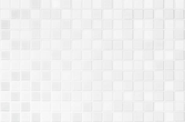 白またはグレーのセラミック壁と床のタイルは、背景を抽象化します。寝室の装飾のための幾何学的なモザイクテクスチャを設計します。背景広告バナーポスターやウェブのためのシンプル� - タイル ストックフォトと画像