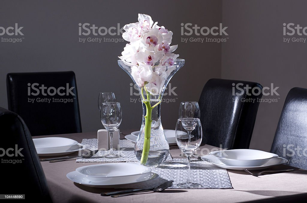 White Orchids arrangement royalty-free stock photo