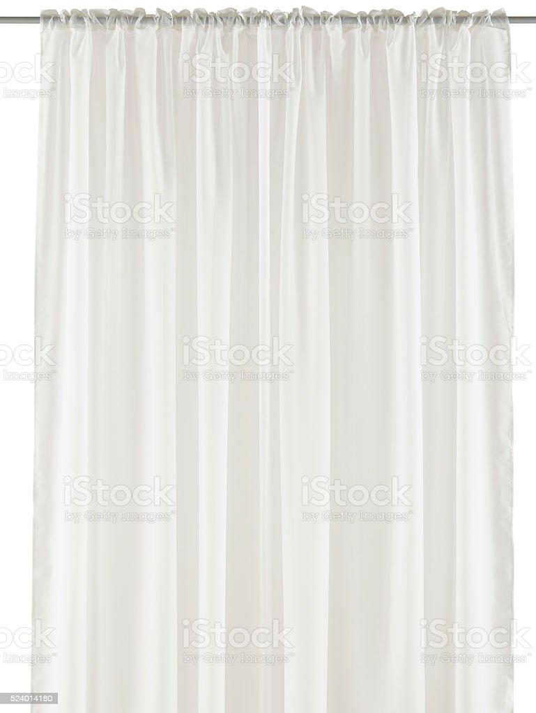 White organza curtain stock photo