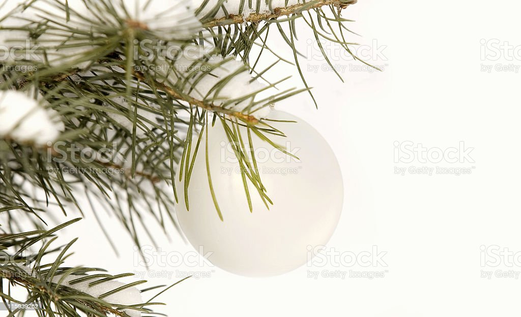 White Ornament royalty-free stock photo