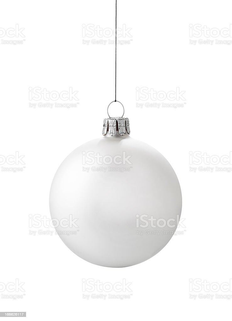 White Ornament stock photo