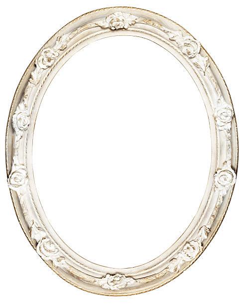 Weiß oval barocken Rahmen – Foto
