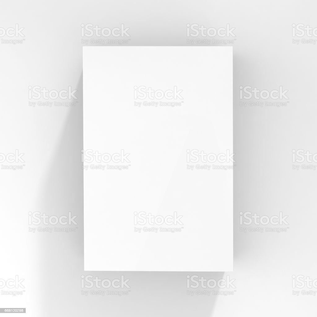 blanco caja en blanco - foto de stock