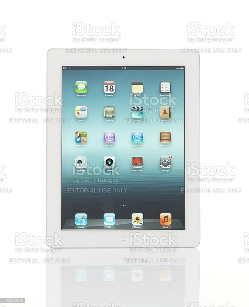 White İpad 2 From Apple royalty-free stock photo