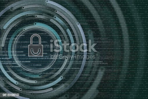 882141812istockphoto white padlock icon protected data privacy in internet environment. background on bainry code bit. 981849610