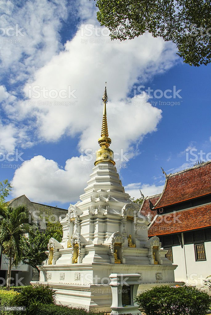 white pagoda royalty-free stock photo