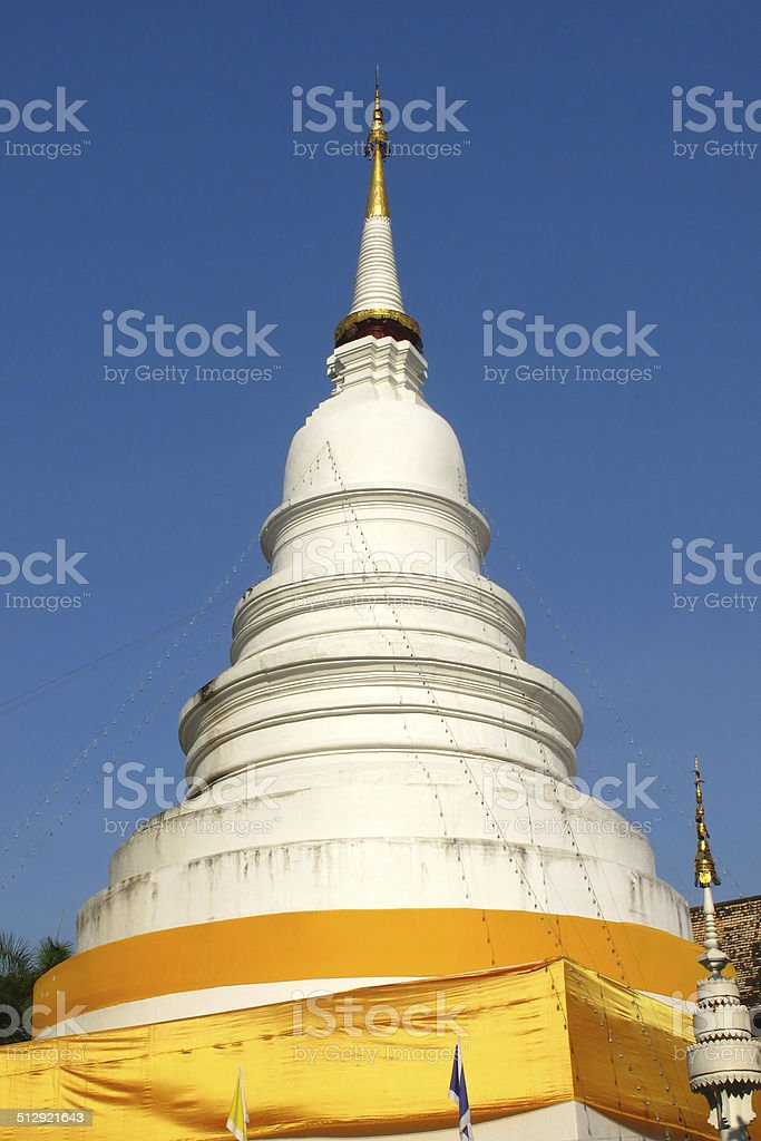 White pagoda stock photo