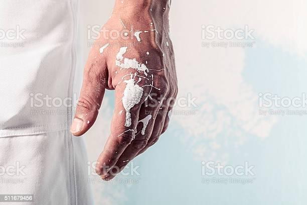 Weißer Farbe Workman Hand Schmutzig Stockfoto und mehr Bilder von Anfang