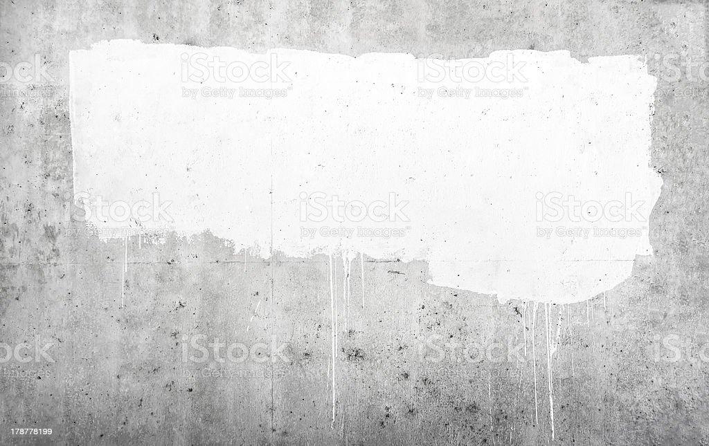 White paint on blank idea royalty-free stock photo