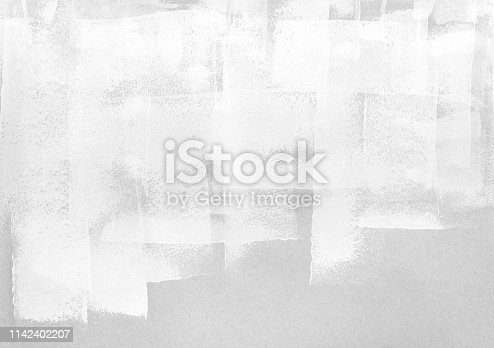 white paint roller strokes on grey paper. abstract texture background