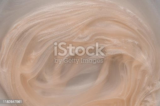 white paint spreading in white liquid, background