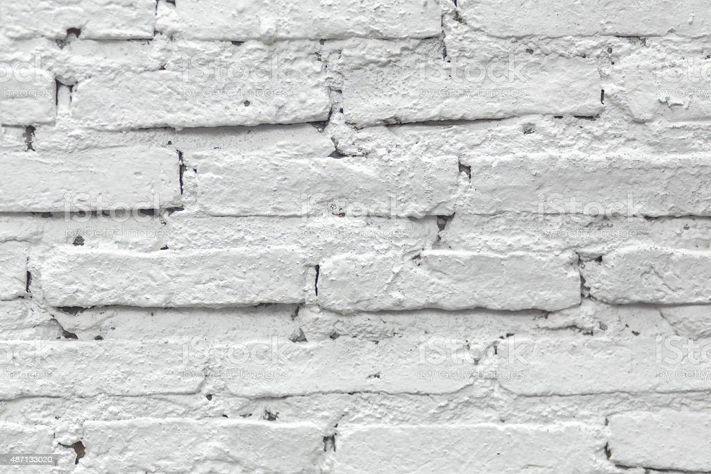 White painted brick wall. stock photo