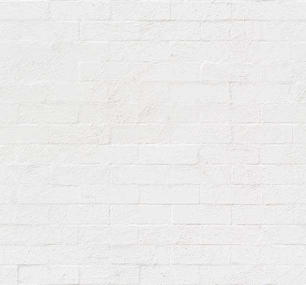 White Painted Bricks Seamless Texture stock photo