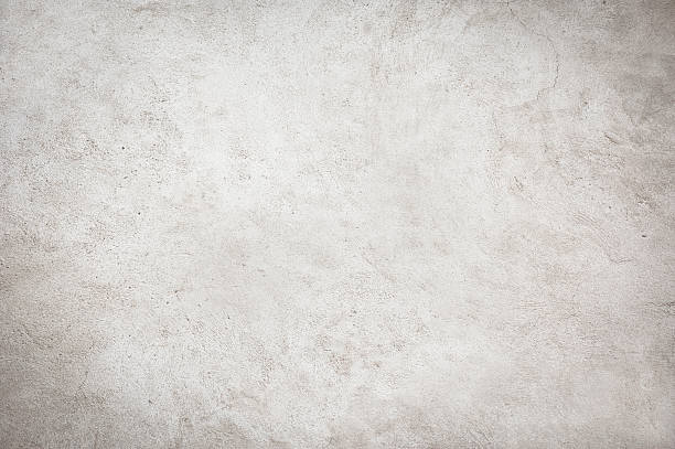 White Painted Concrete Wall Full Frame Grunge Background stock photo