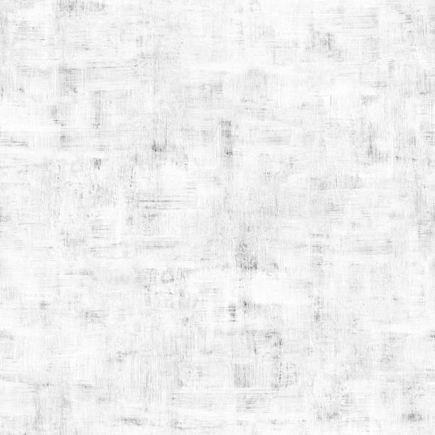 ホワイト塗装コンクリート壁の表面 - 天然材料 - 乱雑な建物が未完成に不均一な汚い目に見える欠点とブラシ ストローク - 抽象白いテクスチャ背景 ストックフォト