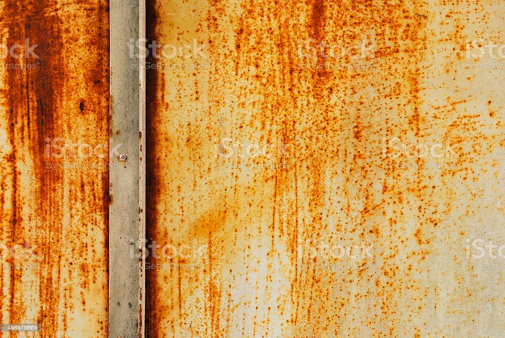 White painted metal with rust texture royalty-free stock photo