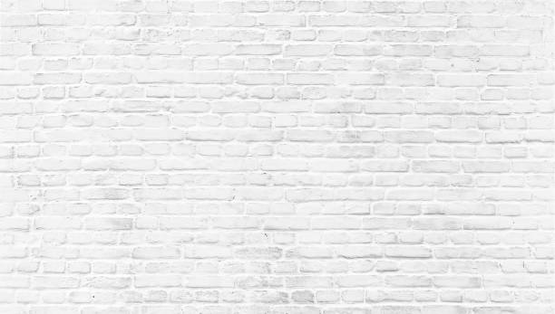 White painted old brick Wall White brick wall texture. Home and office modern design backdrop. Painted bricks wall whitewashed stock pictures, royalty-free photos & images