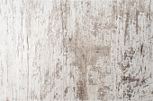 istock White painted old grunge wooden background, white empty wooden texture 883066036