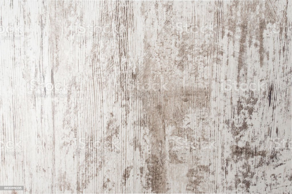 White painted old grunge wooden background, white empty wooden texture stock photo