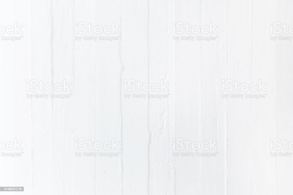 White painted plank wood material stock photo