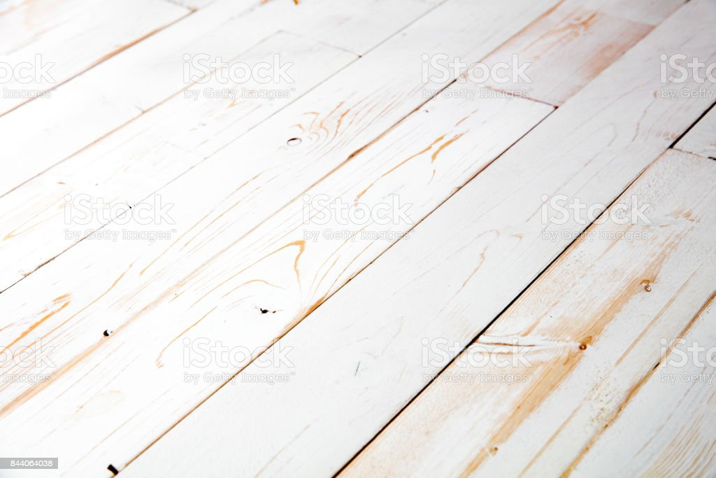 white painted shabby chic wooden background table for copy space stock photo