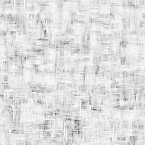 weiß gestrichene oberfläche voll von dünnen linien mit sichtbar bürste bewegungen - abstrakt 3d musterdesign hintergrund - kariertes hintergrundsbild stock-fotos und bilder