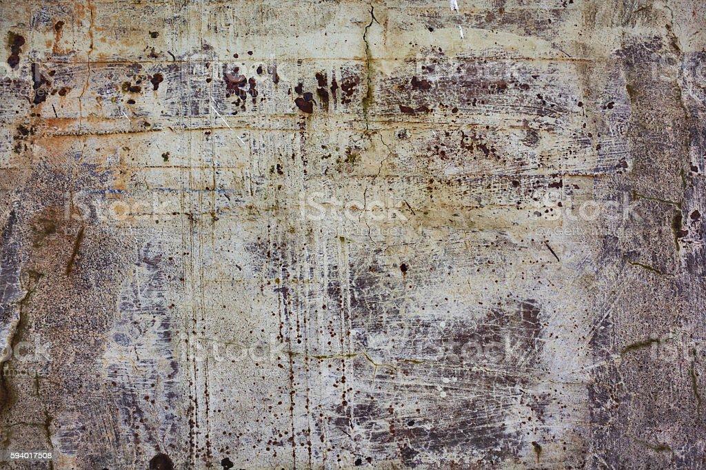 White Painted Wall of Alcatraz stock photo