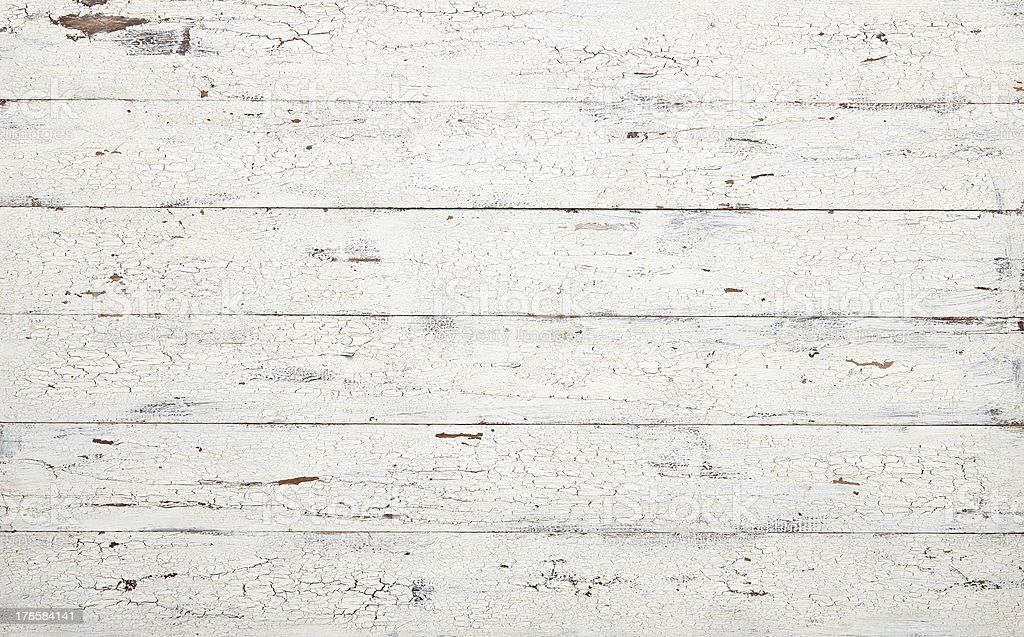 White painted wood with a distressed look stock photo