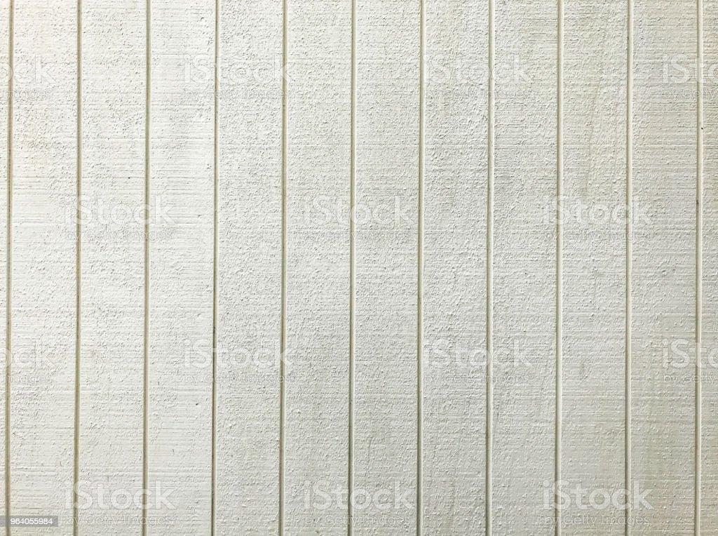 白い木製フェンス パネル パターン背景。インテリアや外装の構造デザインのコンセプトの背景や壁紙。 - からっぽのロイヤリティフリーストックフォト