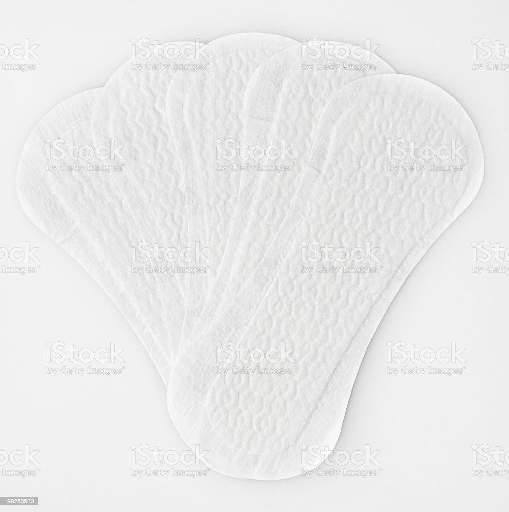 White panty liners stock photo