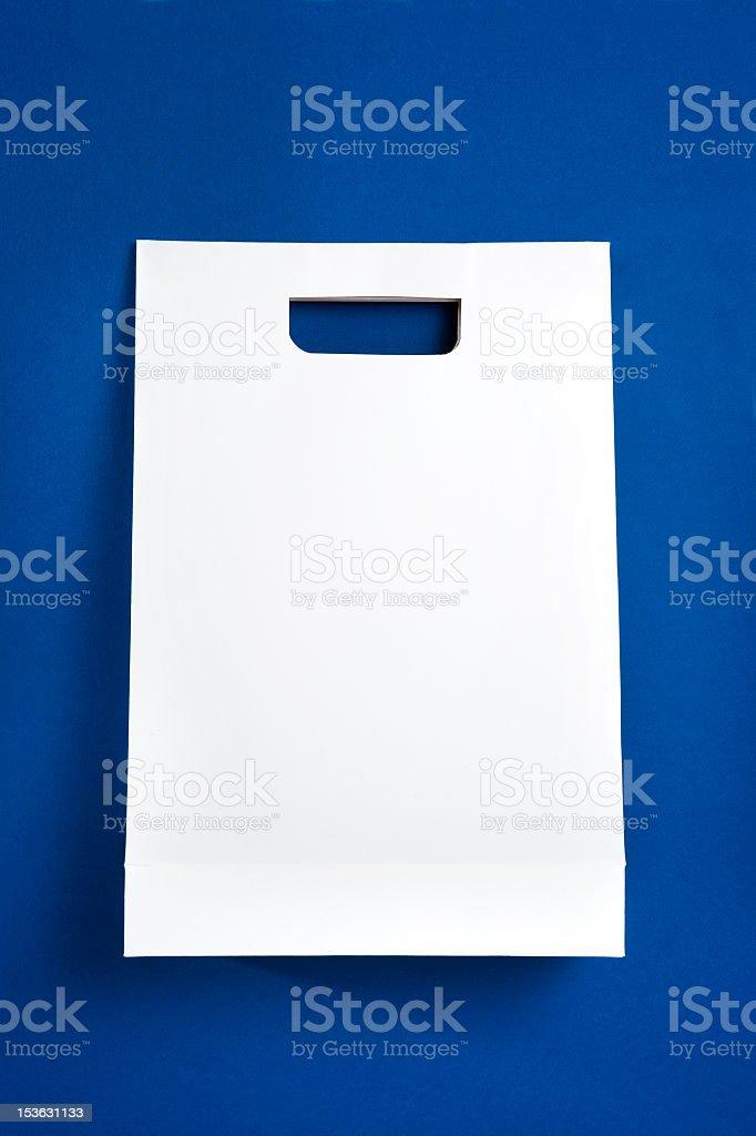 white paper bag royalty-free stock photo