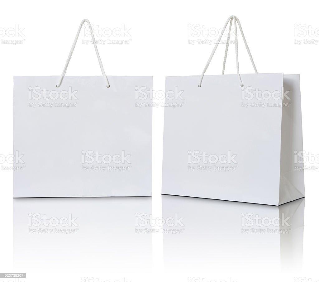 Bolsa de papel en blanco - foto de stock